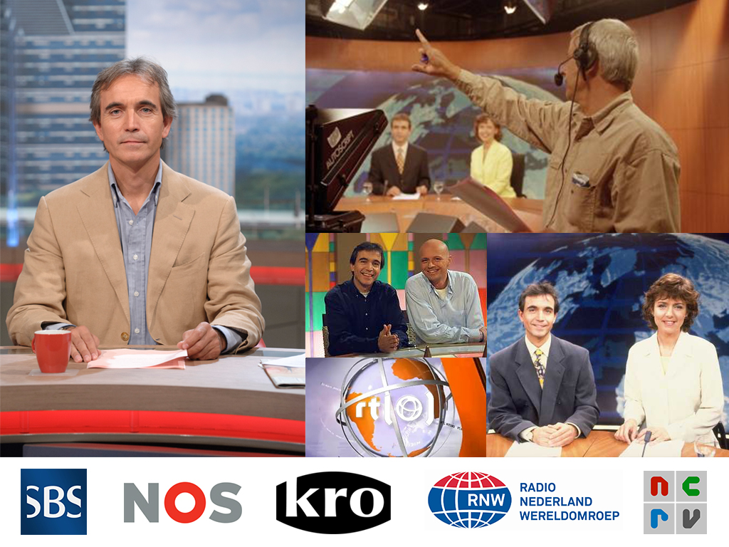 Leo de Later as presenter at RTL News, SBS News and KRO.