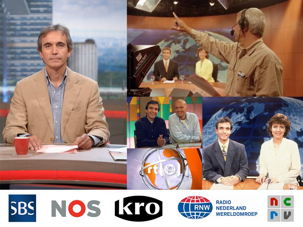 Leo de Later acties als presentator bij RTL Nieuws, SBS Nieuws en KRO.